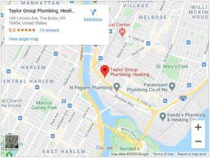 taylor group plumbing google map